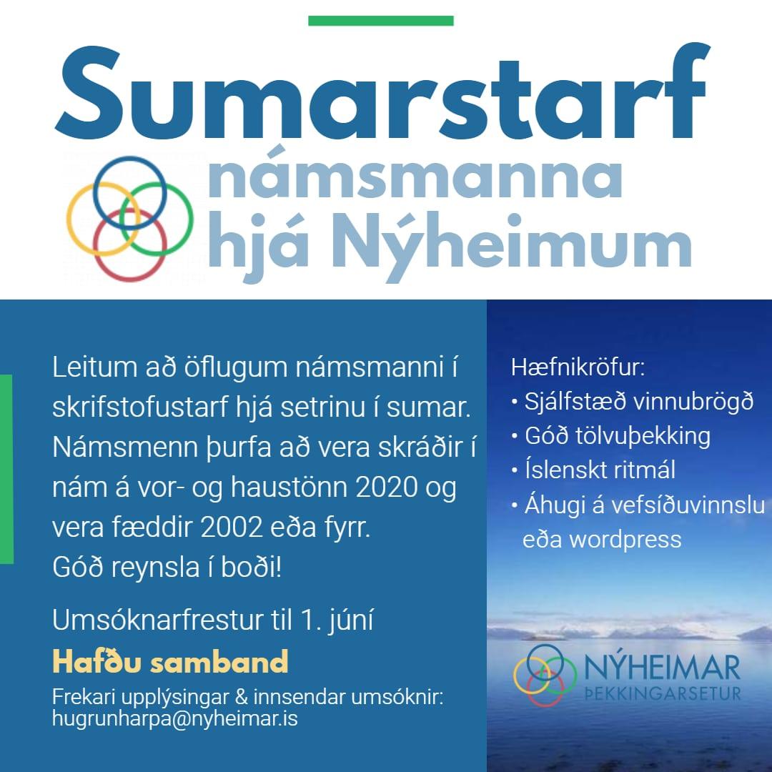 Sumarstarf námsmanna hjá Nýheimum